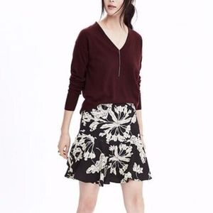 Banana Republic floral print flounce skirt mini
